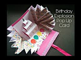 search result youtube video birthday pop up card