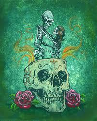 dia de los muertos sugar skulls eterno by david lozeau day of the dead