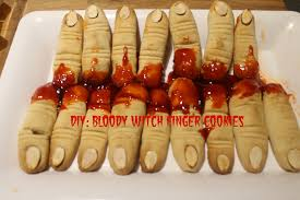 halloween diy bloody witch finger cookies juidhar youtube
