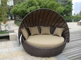 Outdoor Wicker Daybed Outdoor Rattan Furniture Aluminium Frame Resin Wicker Daybed