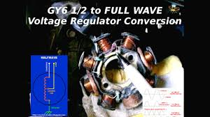gy6 1 2 to full wave charging system conversion youtube