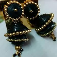 quilling earrings images quilling earrings black two step jhumkasquilling earrings