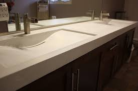 white tiles tops trough sinks bathroom with double sink and