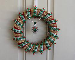 beaded wreath etsy