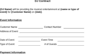 sample dj contract template