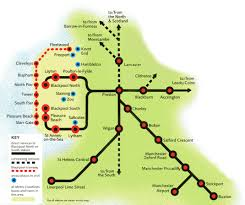 Spirit Route Map by Northern Trains Rail Maps