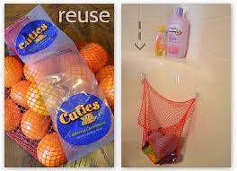 bathroom toy storage ideas reusing produce mesh net bags bath toys reuse and bath
