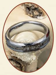 cremation jewelry rings tungsten carbide visible ash cremation jewelry ring width 6mm rb049