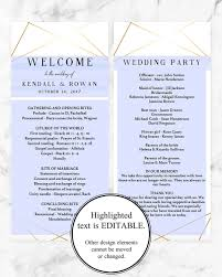 wedding ceremony cards geometric wedding program template printable wedding ceremony
