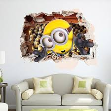 Apex Removable 3d Despicable Me 2 Minions Wall Sticker Decals for