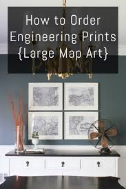 how to order engineering prints large map art erin spain