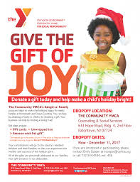 give the gift of with the y s gift drive the community