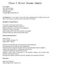 specimen resume bus driver resume sample delivery driver combination