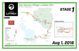 National Parks In Utah Map by Tour Of Utah To Race Its Way Through Zion National Park Monday