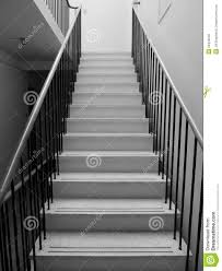 1950s black and white terrazzo staircase stock photo image