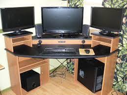 Corner Gaming Desk Gaming Corner Desk Measurements Home Design Ideas