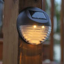 outdoor fence lighting ideas outdoor led solar wall lights dusk to dawn wireless waterproof