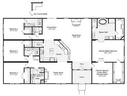 3 home plans the hacienda iii 41764a manufactured home floor plan or modular