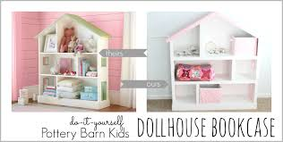 furniture cute dollhouse bookcase with pink roof and white