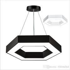 Led Pendant Lighting Discount Modern Office Hexagon Led Pendant Lights Minimalism Metal