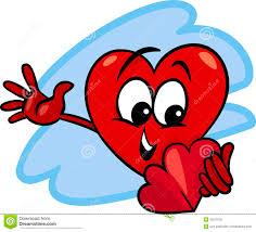 heart with valentine card cartoon royalty free stock photo image