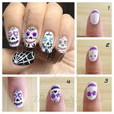 sugar skull nails the crafty ninja