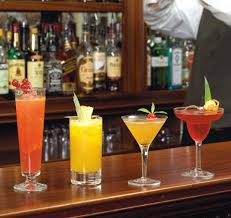 alcoholic drinks at a bar wine and bar longueville manor hotel and restaurant