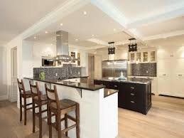 Kitchen Breakfast Bar Design Ideas Fantastic Kitchen Design Ideas With Oval Oak Wood Kitchen Island