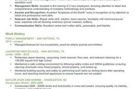 Custodian Resume Skills Custodian Resume Sample Reentrycorps