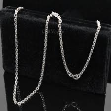 cheap silver chain necklace images Round link sterling silver rolo chain necklace callvogue jpg