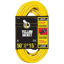 Heavy Duty 15 Amp 2 by Yellow Jacket 50 Ft 12 3 Sjtw Outdoor Heavy Duty Extension Cord