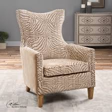 Zebra Accent Chair Zebra Print Accent Chair Chairs Animal Youll Wayfair Brown