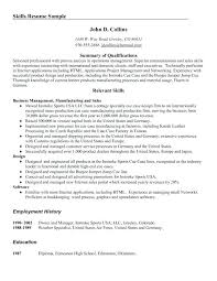 resume qualifications professional skills for resume inssite