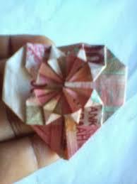 cara membuat origami bunga dari uang kertas berbagi ilmu cara membuat origami love dari uang kertas