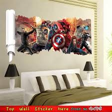 chambre marvel grand marvel affiche wall sticker pour garçons chambre