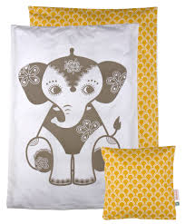 soul mate yellow elephant toddler bedding my own den