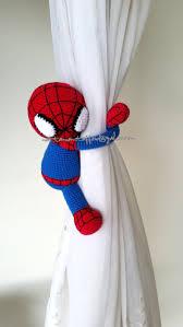 Nursery Curtain Tie Backs by 1 Spiderman Crochet Curtain Tie Back Handmade Spiderman