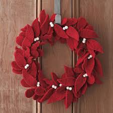 felt wreaths leaf the company store