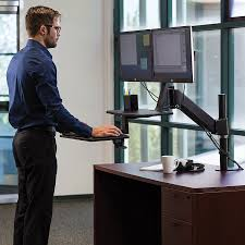 Sit Stand Office Desk by Mount It Sit Stand Desk