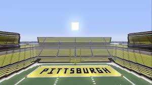 minecraft sports stadium biggest stadium on minecraft xbox pittsburgh steelers heinz