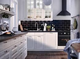 Kitchen Backsplash With White Cabinets Black Subway Tile Backsplash With White Cabinets Designs Ideas