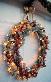 hang a large wreath on your garage door from the home depot