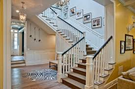 Banister Stair White Banister Staircase Traditional With White Stair Railing Wax
