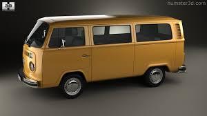 volkswagen type 5 360 view of volkswagen transporter t2 passenger van 1972 3d