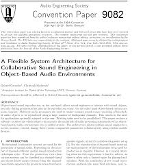 aes e library a flexible system architecture for collaborative