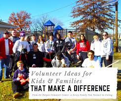 5 easy volunteer ideas for families that make a difference