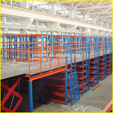mezzanine multi tier platform warehouse storage steel mezzanine