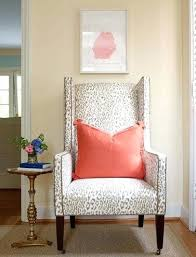Leopard Chairs Living Room Animal Print Chair Living Room Leopard Chair Coral Pillow How You