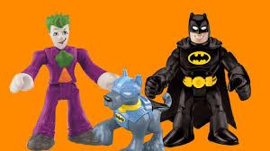 bat dog saves batman robin joker imaginext toys