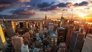 new york city skyline at sunset wallpaper for 3840x2160 4k 136 688